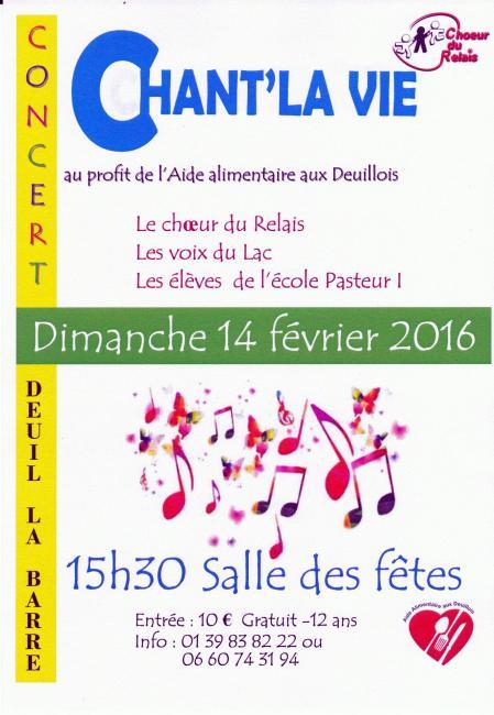 Chant la vie 2016